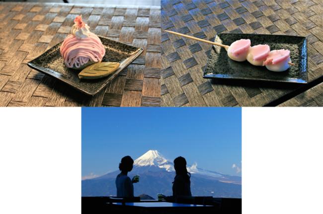 上左 桜モンブラン 上右 富士見だんご桜あん