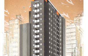 アパホテル〈上野駅南〉 完成予想外観パース