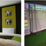 (写真左)宿泊客室例 (写真右)バリューゴルフ大崎店 内観