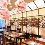 桜のデコレーションと共にお花見をお楽しみいただける個室