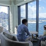 17階 ラウンジより函館山を望む