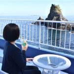 錦ヶ浦の海と奇岩を眺める絶景テラス