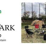 モリパークキャンプのロゴと会場の様子