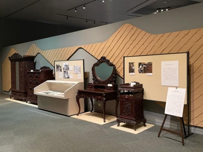 展示風景(横浜市歴史博物館常設展示室)